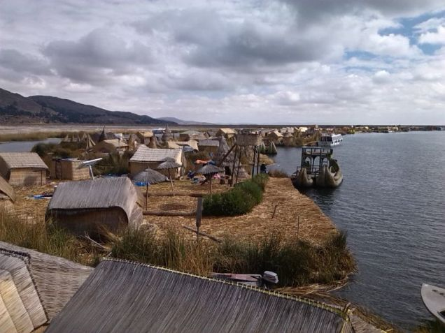 Uros Inseln - Originalnachbau für Touristen